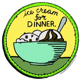 Ice Cream Patch with Color 6x6 4.7