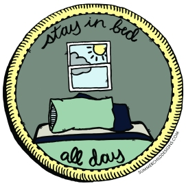 Stay in Bed Patch with Color 6x6